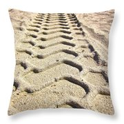 Beach Tracks Throw Pillow