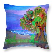 Beach Tree Throw Pillow