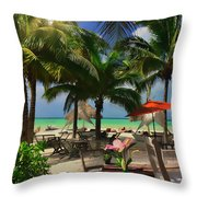 Beach Vacation Throw Pillow