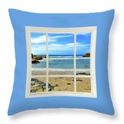 Beach View From Your Living Room Window Throw Pillow