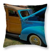 Beach Wagon Throw Pillow