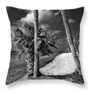 Beach Walk - Port Charlotte Beach Park, Florida Throw Pillow