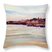 Beach Warmth Throw Pillow
