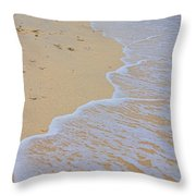 Beach Water Curves Throw Pillow