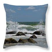 Beach Waves001 Throw Pillow