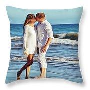 Beach Wedding Throw Pillow