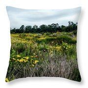 Beach Wildflowers 7 Throw Pillow