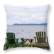 Beach With A View Throw Pillow