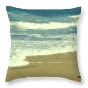 Beachcombers Walk Throw Pillow
