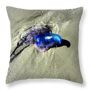 Beached Jellyfish 001 Throw Pillow