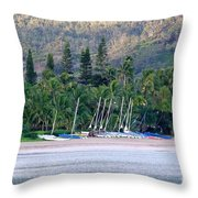 Beached Overnight Throw Pillow