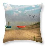 Beached... Throw Pillow
