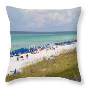 Beaches Of South Walton  Throw Pillow