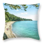Beaches Of The Pacific Northwest Throw Pillow