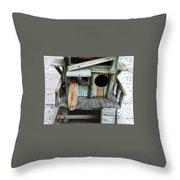 Beachfront Birdhouse For Rent 1 Throw Pillow