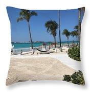 Beachfront Patio Throw Pillow