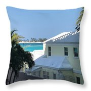 Beachfront Property Throw Pillow