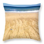 Beachin Day Throw Pillow
