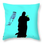 Beachside Couple In Arabia Throw Pillow