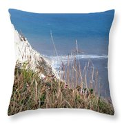 Beachy Head Sussex Throw Pillow
