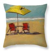Beachy Keen Throw Pillow