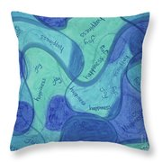 Beachy Three Throw Pillow
