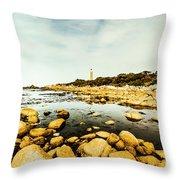 Beacon Beach Throw Pillow