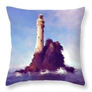 Beacon On The Rock Throw Pillow