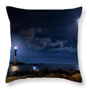 Beacons Of The Night Throw Pillow