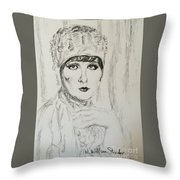 Beaded Chapeau Throw Pillow