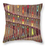 Beaded Curtain Throw Pillow
