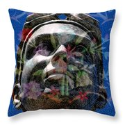 Beaded Girl Throw Pillow