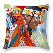 Beaded Pow Wow Dancer Throw Pillow