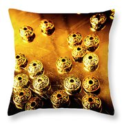 Beads From Another Universe Throw Pillow
