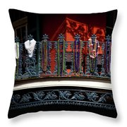 Beads In The French Quarter Throw Pillow