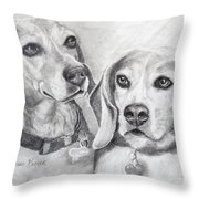 Beagle Boys Throw Pillow