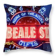 Beale Street Home Of The Blues Throw Pillow