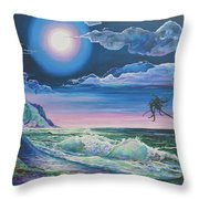 Bealtaine Moon Throw Pillow