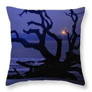 Beam Me Up To The Beach Throw Pillow