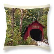 Bean Blossom Bridge I Throw Pillow