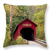 Bean Blossom Bridge II Throw Pillow