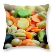Bean Pile Throw Pillow