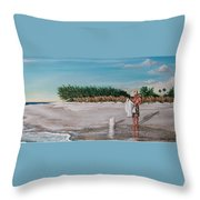Bean Point  Throw Pillow