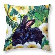 Bean The Magical Rabbit -pet Portrait Throw Pillow
