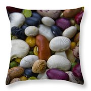 Beans Of Many Colors Throw Pillow