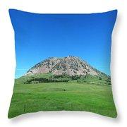 Bear Butte On Summer Day Throw Pillow