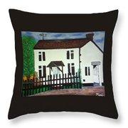 Bear Cottage Throw Pillow