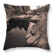 Bear Gulch Reservior Throw Pillow