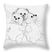 Bear Huddle Throw Pillow