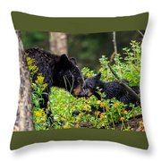 Bear Kisses Throw Pillow